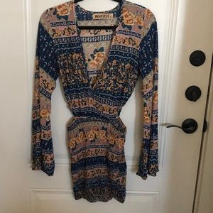 Beach dress with long sleeves, size S